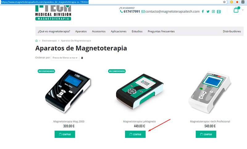 Cómo comprar un equipo de magnetoterapia I-Tech.