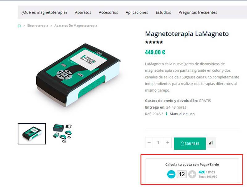 Cómo pagar a plazos un equipo de magnetoterapia I-Tech.